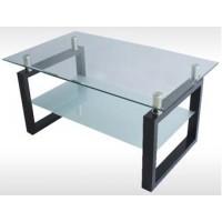 Холна маса със стъклен плот D386
