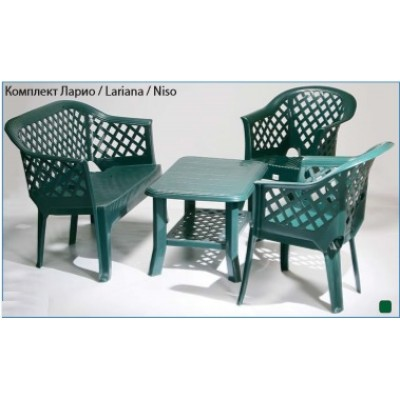 Градиснки комплект пластмаса Ларио-Лариана-Нисо зелен