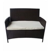 Кресло двойно 652 с възглавничка ратан