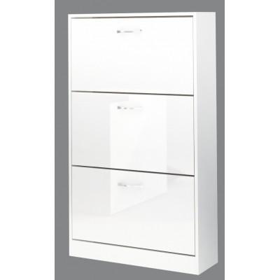 Шкаф за обувки Вектра 3 бяло гланц