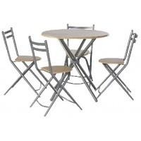 Комлект маса и 4 сгъваеми стола JX-001