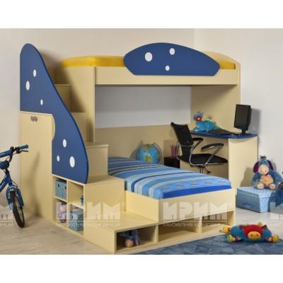 Детско двуетажно легло Пампи