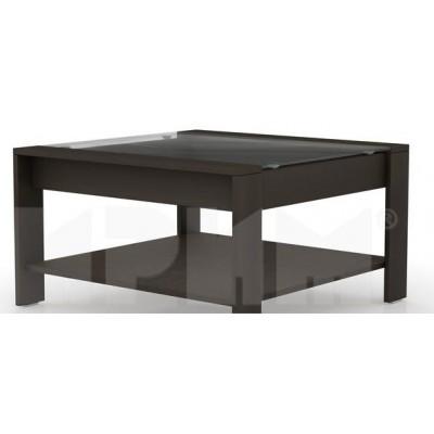 Квадратна холна маса с мат стъкло Кери