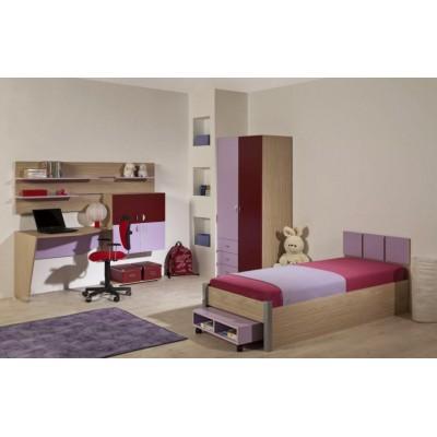 Детска стая ДЖОЙ с легло за едн. матрак 82/190 см
