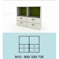 Модулна система МОДИ шкаф с 4 чекмеджета и 2 ниши М10
