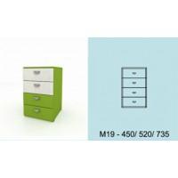 Модулна система МОДИ шкаф с 4 чекмеджета М19