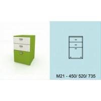 Модулна система МОДИ шкаф с 2 чекмеджета и 1 вратичка М21