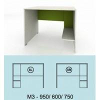 Модулна система МОДИ бюро с място за компютър (ляво или дясно) М3