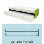 Модулна система МОДИ легло тип сандвич с 2 матрака 82/190 см. М39