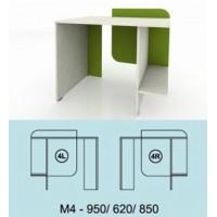 Модулна система МОДИ бюро с място за компютър (ляво или дясно) М4