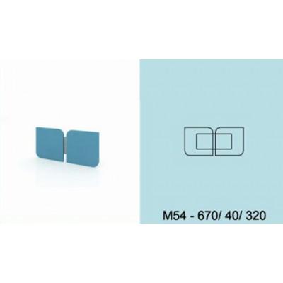 Модулна система МОДИ двоен декоративен елемент за стена М54