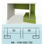 Модулна система МОДИ бюро с място за компютър и чекедже (ляво или дясно) М6