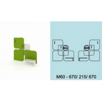 Модулна система МОДИ троен декоративен елемент за стена М60