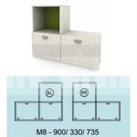 Модулна система МОДИ шкаф с 2 вратички и ниша М8