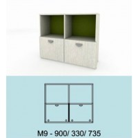 Модулна система МОДИ шкаф с 2 вратички и 2 ниши М9