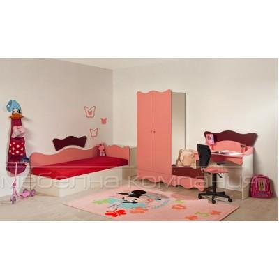 Детска стая АЛЕКС с легло за матрак 82/190 см.