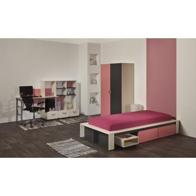 Детска стая ЛИО с легло за едн. матрак 82/190 см
