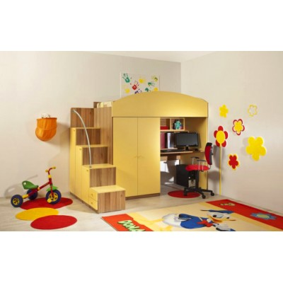 Детска стая ЛИТЪЛ с легло за матрак 82/190 см