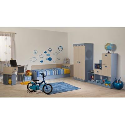 Детска стая МАНИ с легло за матрак 82/190 см.