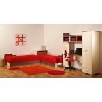 Детска стая СТИЧ с легло за матрак 82/190 см. с повдигащ механизъм