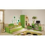 Детска стая УИНИ с легло тип сандвич + два еднолицеви матрака