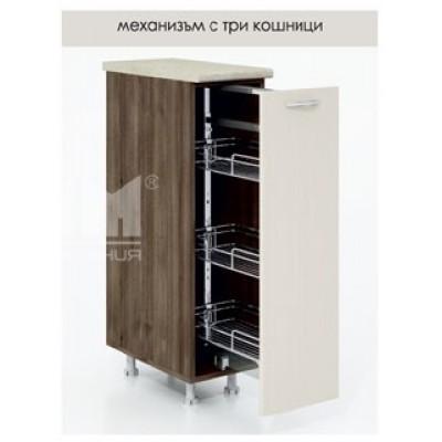 D343 кухненски шкаф с изтеглящ механизъм с три кошници