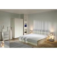 Спален комплект ЛОРЕН със скрин и легло с повдигащи амортисьори