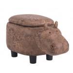 Детска табуретка - ракла Хипопотам