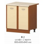 Шкаф с 2 врати /вградена мивка/ МИКА В 2