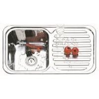 Мивка алпака 820/480/210 с десен плот - 65DA 8248