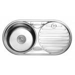 Мивка алпака 830/430/230 кръгла с плот - 65LA W8343A