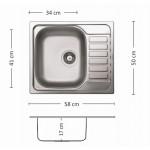 Мивка COMPACT 58.1 SI
