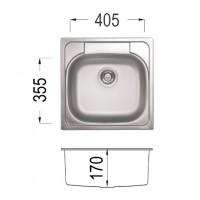 Мивка за вграждане LARIS 48
