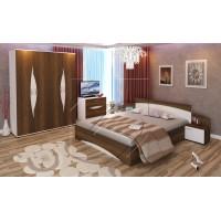 Галант спален комплект с четирикрилен гардероб