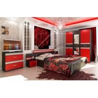 Рока Комплект за спалня червено и черно