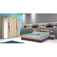 Комплект за спалня АРАМО с четирикрилен гардероб с огледало