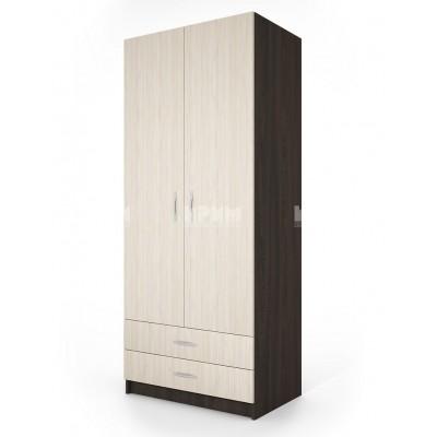 Двукрилен гардероб с две чекмеджета City 1008