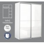 Гардероб АПОЛО 4 с плъзгащи врати бяло гланц