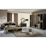 Италианска спалня Eva Nero/Gold
