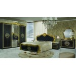 Спален комплект VILMA Nero/Gold