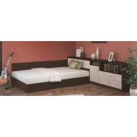 Легло за матрак 120/190 Сити 7003 с повдигащ механизъм, ракла и шкафчета