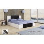 Тапицирано легло Казабланка бяло мат/ черно мат
