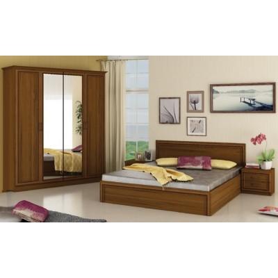 Комплект за спалня Карола орех класик/ МДФ профил орех с орнаменти