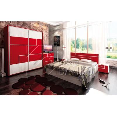 Комплект спалня ТОРИНО червено и антик