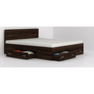 Аполо 10 спалня с чекмеджета цвят тъмен дъб/ пясъчен дъб
