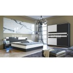 Комплект за спалня Сити 7022 с двукрилен гардероб с плъзгащи врати