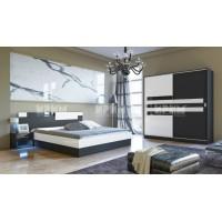 Комплект за спалня Сити 252 с двукрилен гардероб с плъзгащи врати