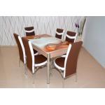 Комплект разтегателна маса и 6 стола 2000 2