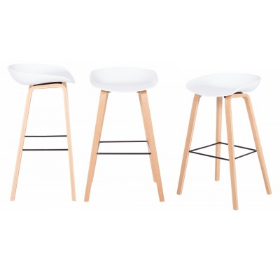 Бар стол Carmen 3078 - бял