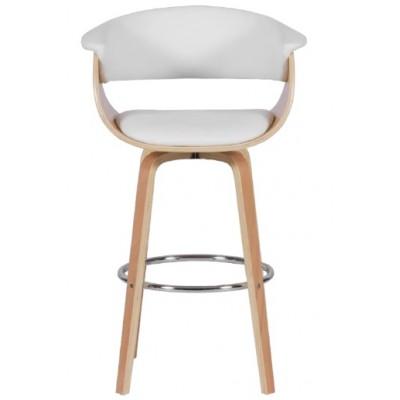 Бар стол Carmen 4040 бук/ бял